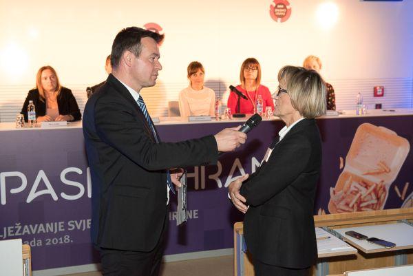 Moderator Mislav Togonal i Vera Katalinić –Janković, pomoćnica ministra zdravstva